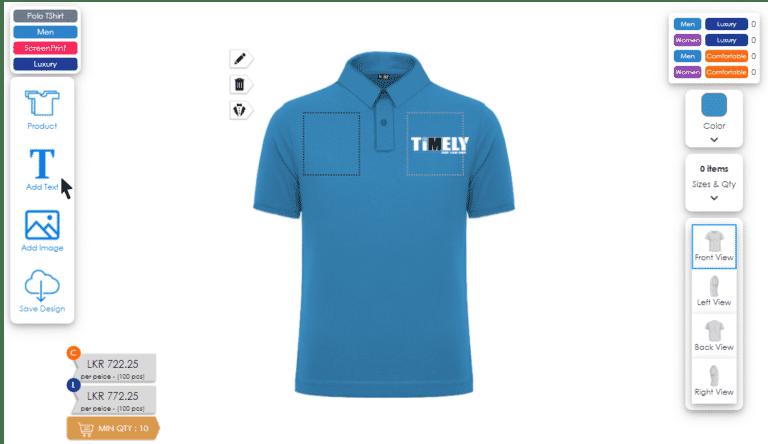t-shirt printing online and order Sri Lanka